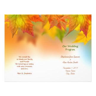 Blätter der Herbst-Hochzeits-Programm-Flyer 21,6 X 27,9 Cm Flyer
