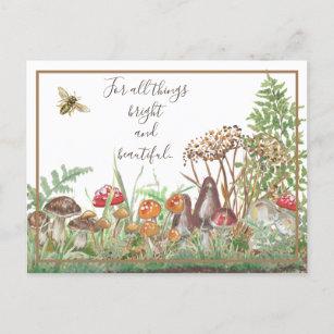 Blätter des Naturschutzgebietes Mushroom Bee Ernt Feiertagspostkarte