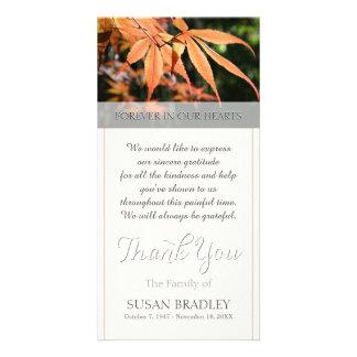 Blätter im Herbst-Beileid dankt Ihnen Fotokarte