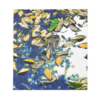 Blätter im Regen Notizblock