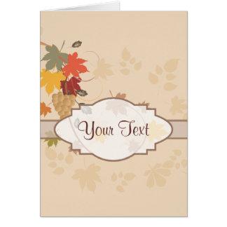Blätter, Trauben und Bänder - kundengerecht Karte