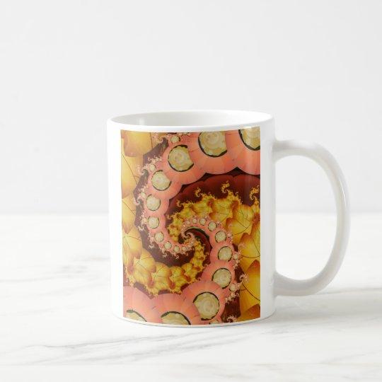 Blätter und Blumen Tasse