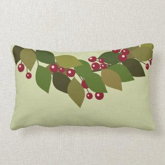 Blätter und rustikales Weihnachten Beerenwreath-| Lendenkissen