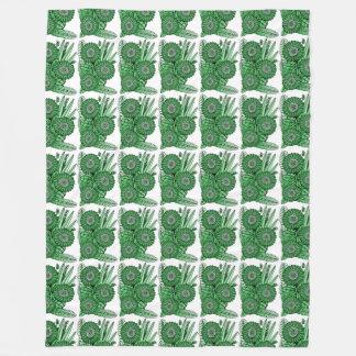 Blattgrüner Fleecedecke