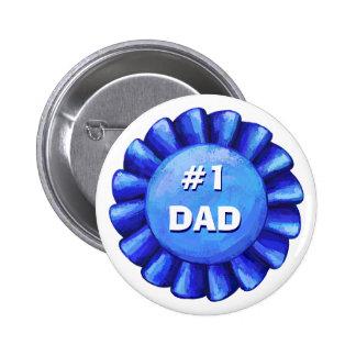 Blau-Abzeichen des Vati-#1 Runder Button 5,7 Cm