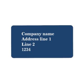 Blau Adressetikett