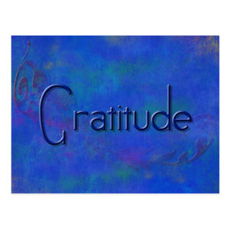 Blau auf blauer Block-Dankbarkeits-Postkarte Postkarte