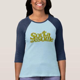 Blau-auf-Blauer Raglan-T - Shirt