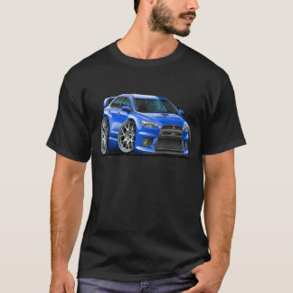 Blau-Auto Mitsubishis Evo T-Shirt
