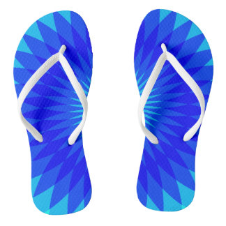 Blau Badesandalen