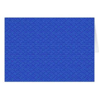 Blau bewegt japanische Art-Muster-freien Raum nach Karte