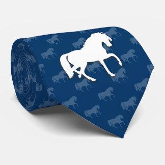 Blau der Silhouette-Pferd| Krawatte