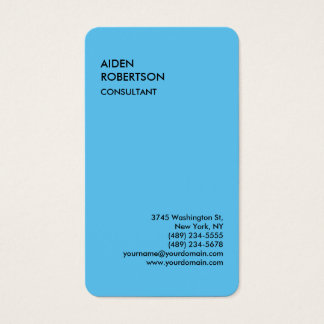 Blau gerundetes exklusives spezielles modernes visitenkarte