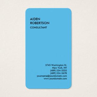Blau gerundetes exklusives spezielles modernes visitenkarten