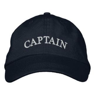 Blau-gestickter Hut Kapitän-Marine