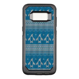 Blau gestrickter Hintergrund OtterBox Commuter Samsung Galaxy S8 Hülle