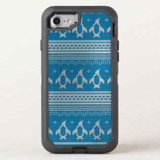 Blau gestrickter Hintergrund OtterBox Defender iPhone 8/7 Hülle