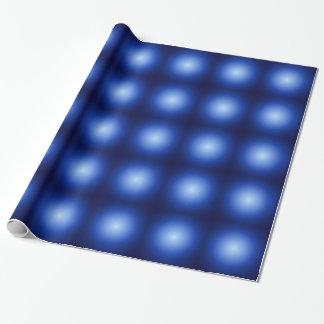 Blau-glühende metallische Bälle Geschenkpapierrolle