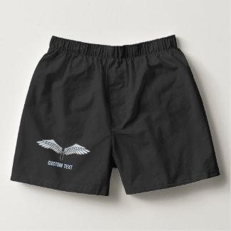 Blau-graue Flügel Herren-Boxershorts