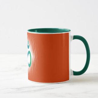 Blau-grün-weiß-HT Tasse