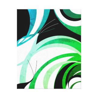 """Blau. grüner und schwarzer """"greenleaf"""" Entwurf Leinwanddruck"""