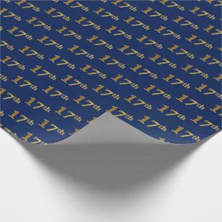 Blau, Imitat-Gold17. (siebzehntes) Ereignis Geschenkpapier