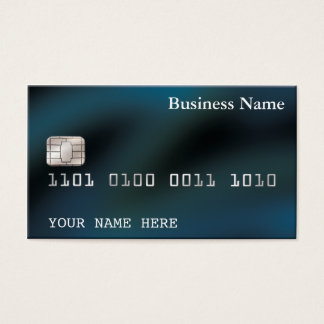 Blau Kreditkarteart VISITENKARTE (2-sided)