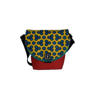 Blau-Kreis-Hexagon mit Ziegeln gedeckte Kurier Tasche