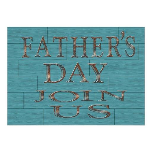 Blau logierent der Vatertags-Party Einladungen