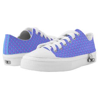 Blau mit lila Herz-niedrigen Spitzenschuhen Niedrig-geschnittene Sneaker