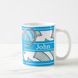 Blau personifiziert Tennis-Entwurf Kaffeetasse