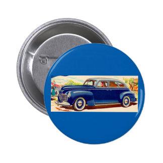 Blau Plymouth 1941 Runder Button 5,1 Cm