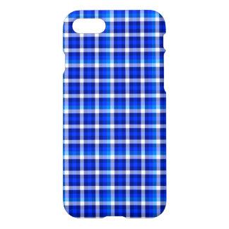 Blau-Quadrat-Karo-Muster-Mode-Entwurf iPhone 8/7 Hülle
