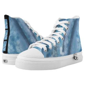 Blau träumt hohe Spitzenturnschuhe Hoch-geschnittene Sneaker