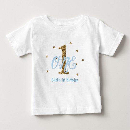 Blau-u. Goldjungen EINE 1. Baby T-shirt