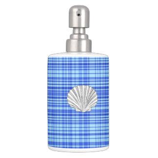 Blau u. white10-Toothbrush Schale/Seife Zufuhr-Set Badezimmer-Set