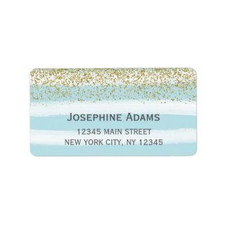 Blau-und Goldadressen-Etiketten Adressaufkleber
