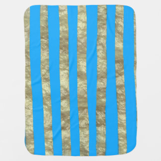 Blau-und Goldbaby-Decke Puckdecke