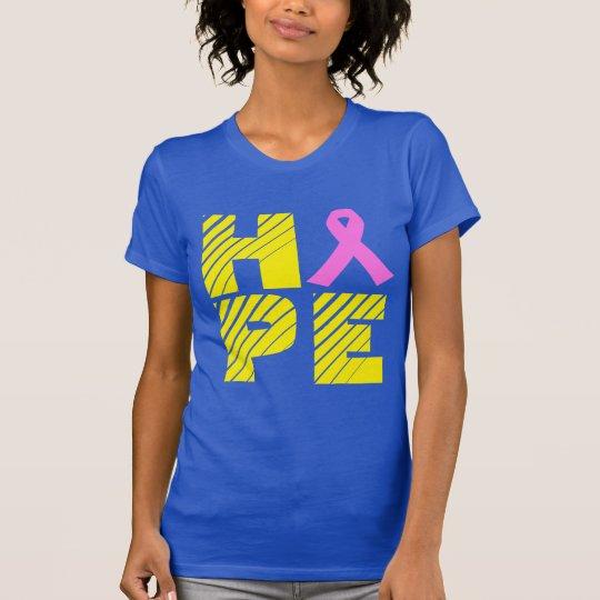 Blau-und Goldbrustkrebs-Bewusstseins-T-Shirt T-Shirt