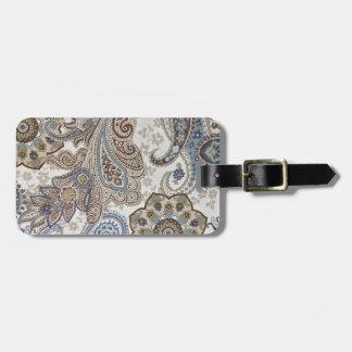Blau und Muster Browns Paisley Gepäckanhänger