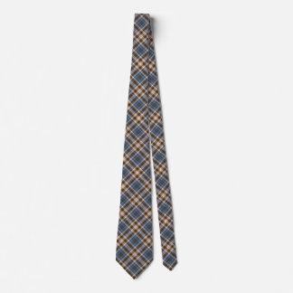 Blau und TAN kariert Bedruckte Krawatte