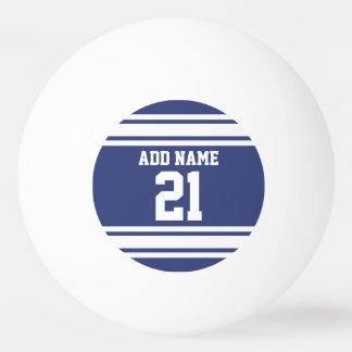 Blau und Weiß trägt Jersey-Name-Zahl zur Schau Tischtennis Ball