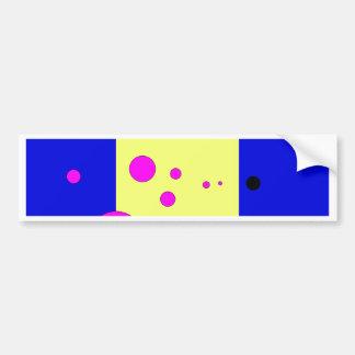 Blau und yelow mit rosa-schwarzen Blasen Autoaufkleber