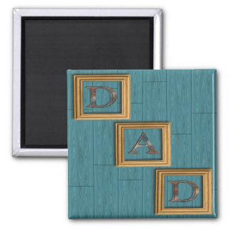 Blau verschalt der Vatertags-Magneten Quadratischer Magnet