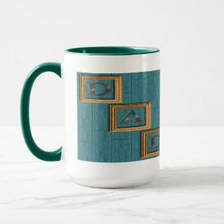 Blau verschalt der Vatertags-Tassen Tasse