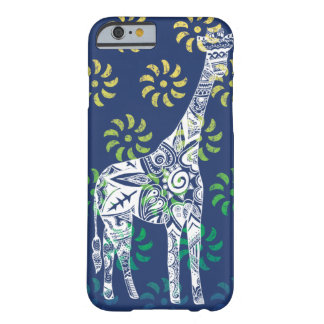Blau Whirls Giraffe iPhone 6 Fall Barely There iPhone 6 Hülle