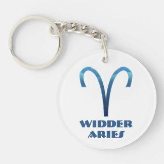 Blau Widder Widder-Tierkreis Schlüsselanhänger
