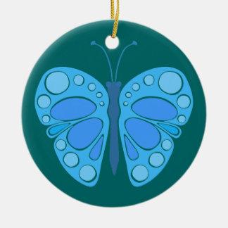 Blaubeerhimmel-60er Schmetterling Keramik Ornament