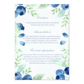 Blaubeerhochsommer-rustikale Beeren-Hochzeit Karte