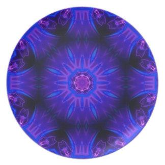 Blaue abstrakte Melamin-Platte Melaminteller